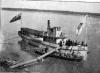 SS Wrigley with Scow